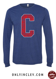 """Cleveland Block C Design"" on Navy"