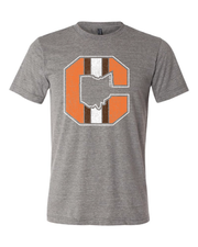 """Block C Striped Solid"" on Gray - Only in Clev"