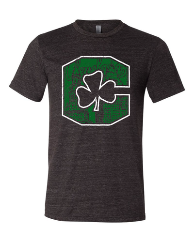 """Block C Shamrock"" design on Black - Only in Clev"