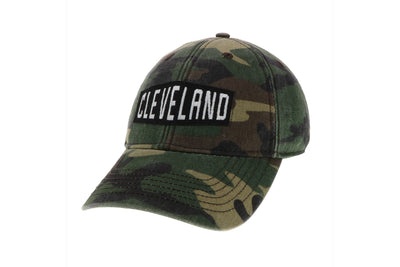 Camo hat w/Cleveland Logo - Only in Clev