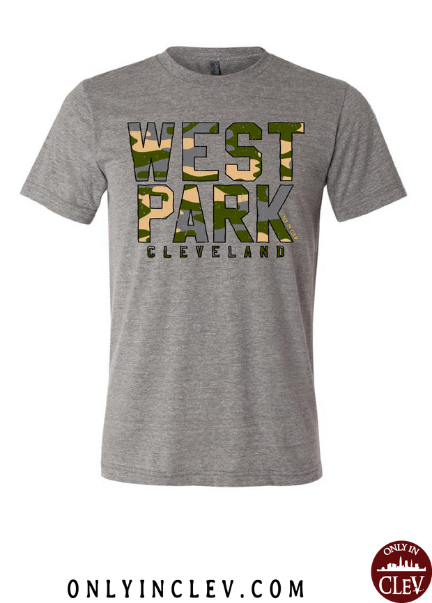 """West Park Camo"" Design on Gray"
