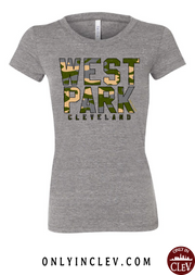 """West Park Camo"" Design on Gray - Only in Clev"