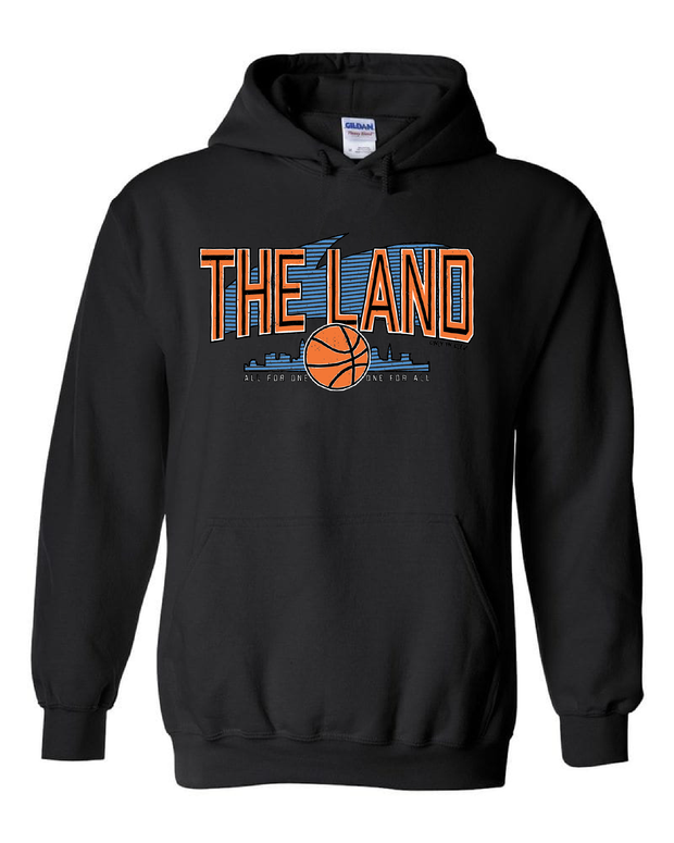 """The Land Retro Swirl""  Design on Black - Only in Clev"