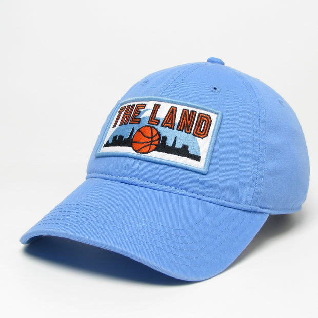 The Land Patch on Retro Blue Hat - Only in Clev
