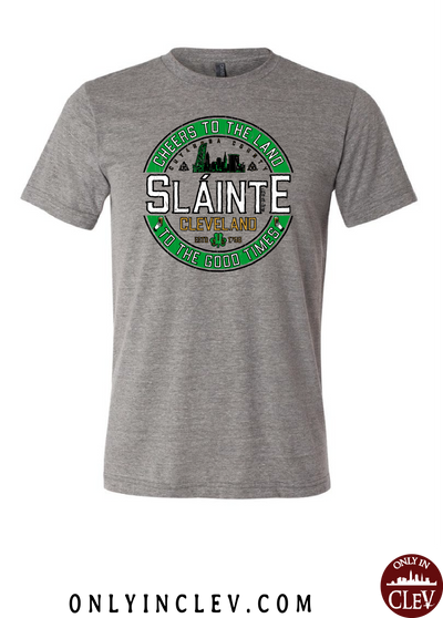 """Slainte"" design on Gray"