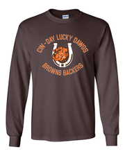 """Cin - Day Lucky Dawgs"" Full design on Brown"