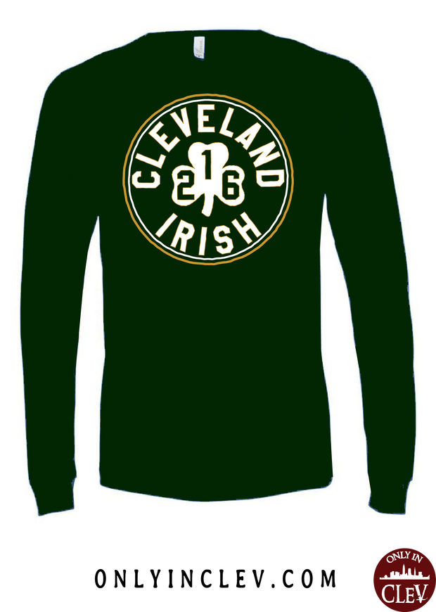 """Cleveland 216 Irish"" Design on Emerald Green - Only in Clev"