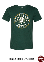 """Cleveland 216 Irish"" Design on Emerald Green"