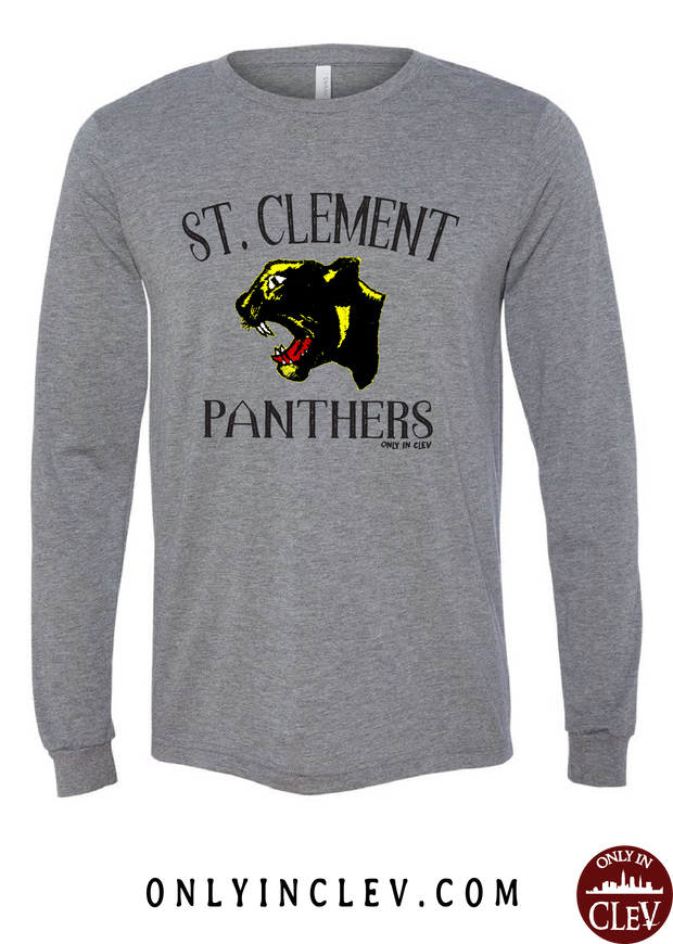 St. Clement Panthers Long Sleeve T-Shirt - Only in Clev
