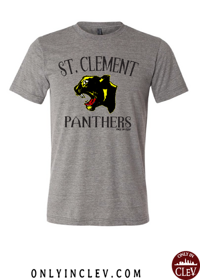 """St. Clement Panthers"" Design on Gray"