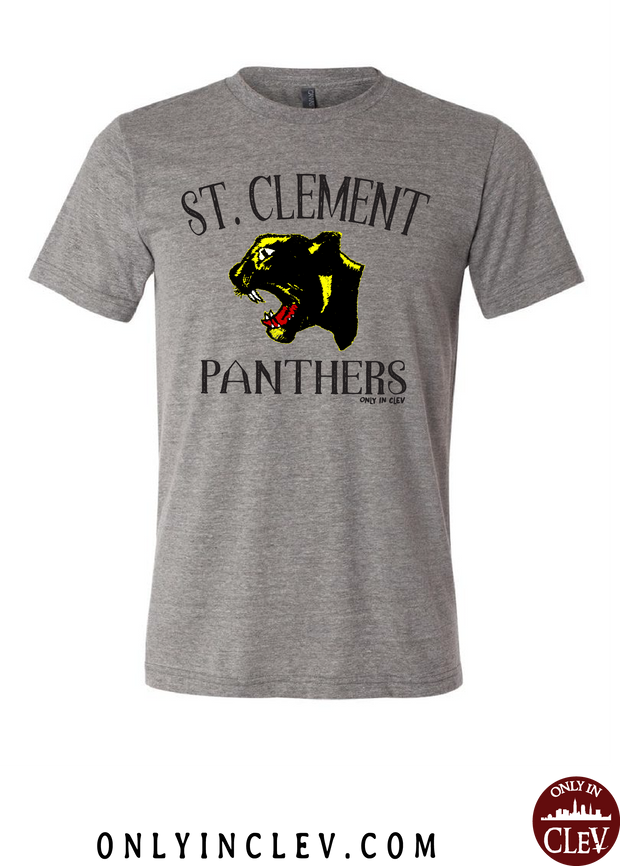"""St. Clement Panthers"" Design on Gray - Only in Clev"
