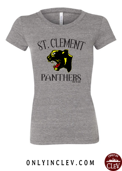 St. Clement Panthers Womens T-Shirt - Only in Clev