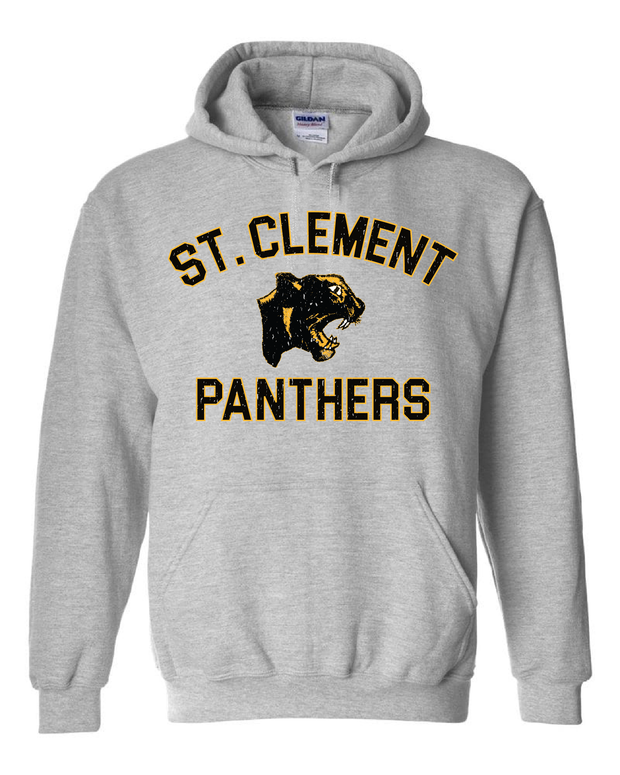 "New ""St. Clement Panthers"" Design on Gray - Only in Clev"