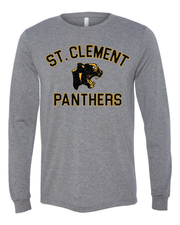 "New ""St. Clement Panthers"" Design on Gray"