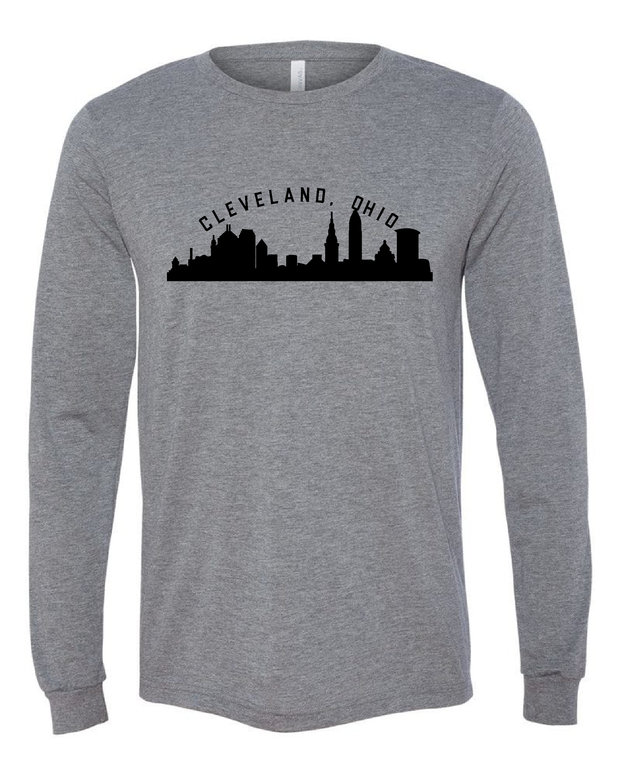 """Cleveland Ohio Skyline"" Design"" on Gray - Only in Clev"