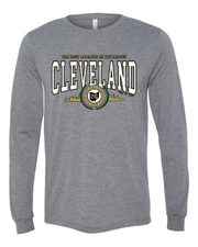 """Cleveland Metallic Gold"" Design on Gray - Only in Clev"