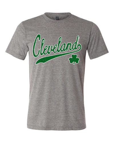 """Script Cleveland Irish"" design on Grey"
