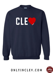 """Love CLE"" Design on Navy - Only in Clev"