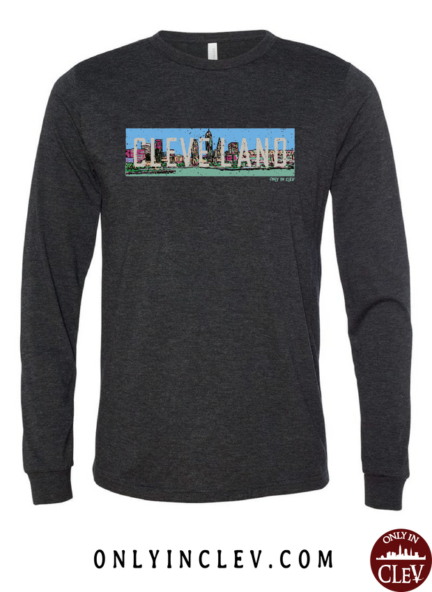 Cleveland Skyline Panoramic T Shirt