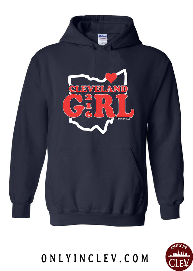 """Cleveland Girl"" Design on Navy"