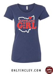 """Cleveland Girl"" Design on Navy - Only in Clev"
