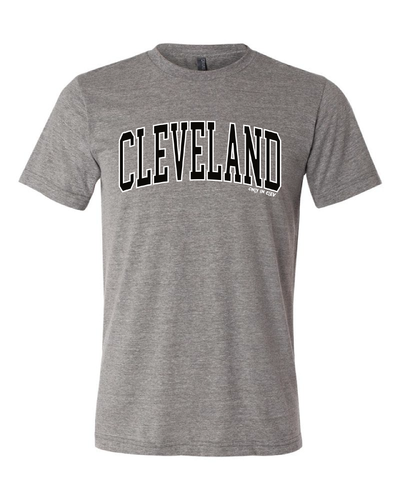 """Cleveland Arched Design"" on Gray"