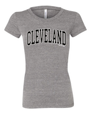 """Cleveland Arched Design"" on Gray - Only in Clev"