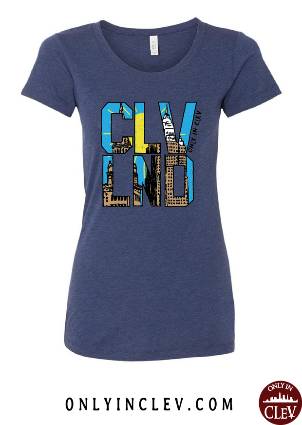 CLVND  Womens T-Shirt - Only in Clev