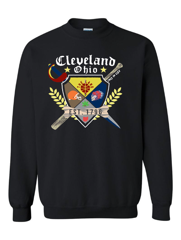 """Coat of Arms"" Cleveland Crewneck Sweatshirt"