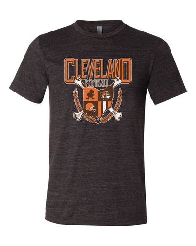 """Cleveland Football Coat of Arms"" on Black - Only in Clev"