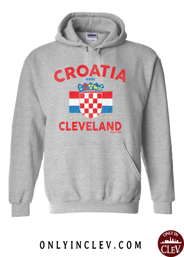 Croatia-Cleveland Nationality Tee Hoodie - Only in Clev