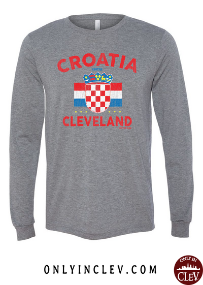 Croatia-Cleveland Nationality Tee Long Sleeve T-Shirt - Only in Clev