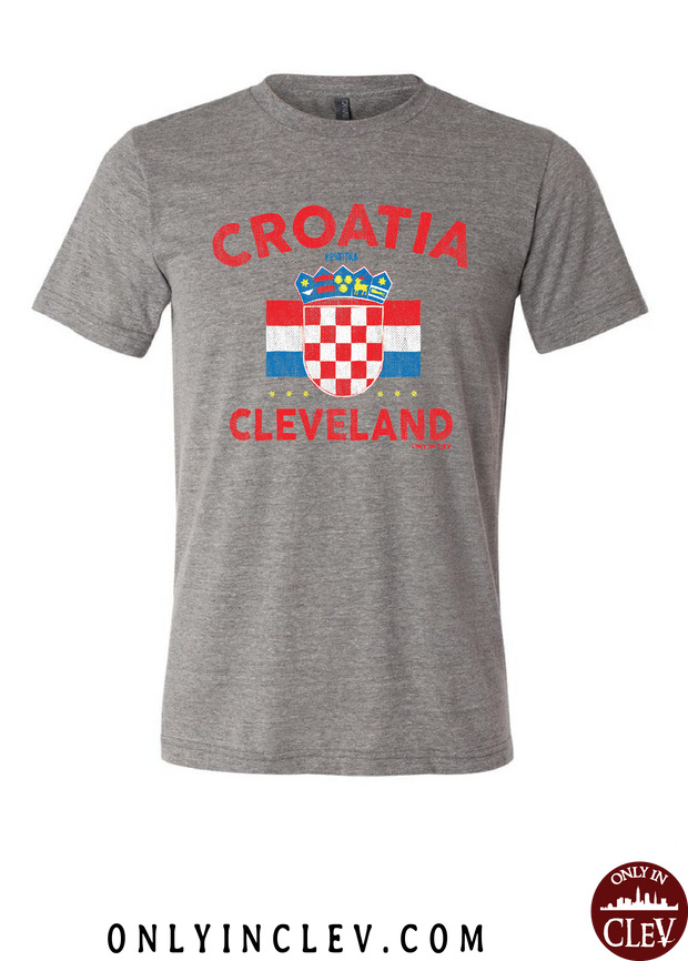 Croatia-Cleveland Nationality Tee T-Shirt - Only in Clev