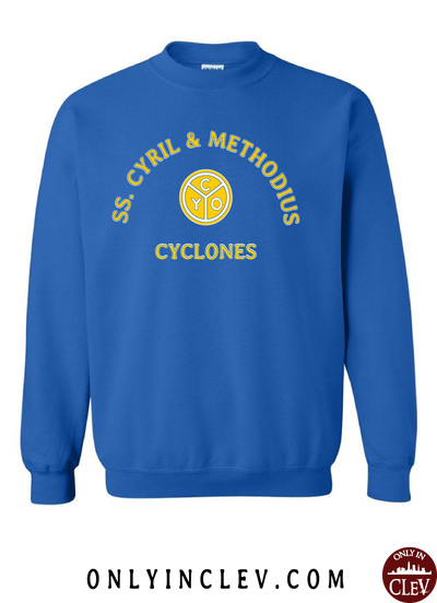 SS. Cyril and Methodius Cyclones Crewneck Sweatshirt - Only in Clev