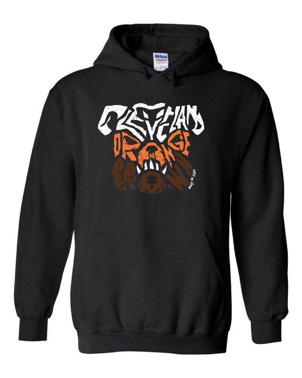 """Dawg Orange & Brown T Shirt"" on Char Black"