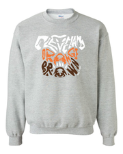 """Dawg Orange & Brown T Shirt"" on Gray"