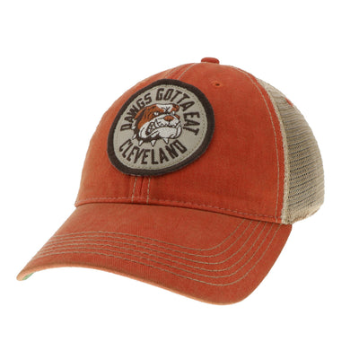 Dawgs Gotta Eat on Orange Trucker Hat