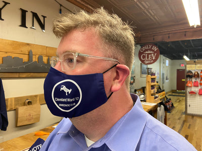 "Cleveland ""Ward 17 Mask"" on Navy - Only in Clev"