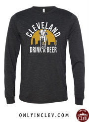 """Cleveland Drink a Beer"" on Black - Only in Clev"