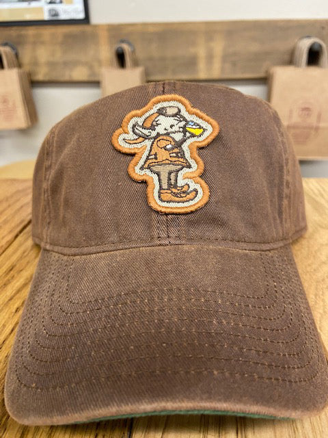 """Drinking Elf"" on Brown Washed Dad's Hat - Only in Clev"