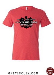 """Cleveland Dupa"" Design on Red"