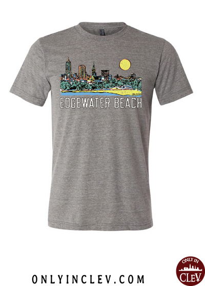 """Edgewater Beach"" T Shirt - Only in Clev"