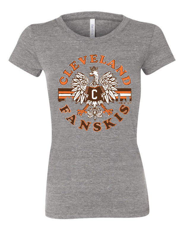 """Cleveland Fanskis"" Design on Gray - Only in Clev"