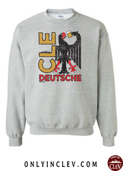 """CLE Deutsche Drinking T-Shirt"" on Gray - Only in Clev"