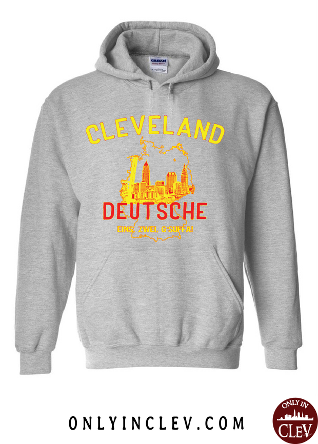 Cleveland Skyline Deutsche Hoodie - Only in Clev
