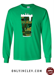 """Cleveland Irish Suds"" design on Green - Only in Clev"