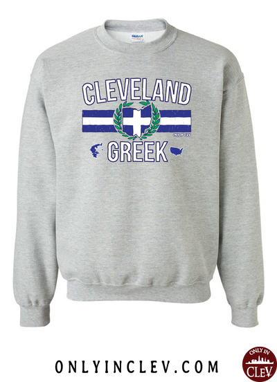 Cleveland-Greek Nationality Tee Crewneck Sweatshirt