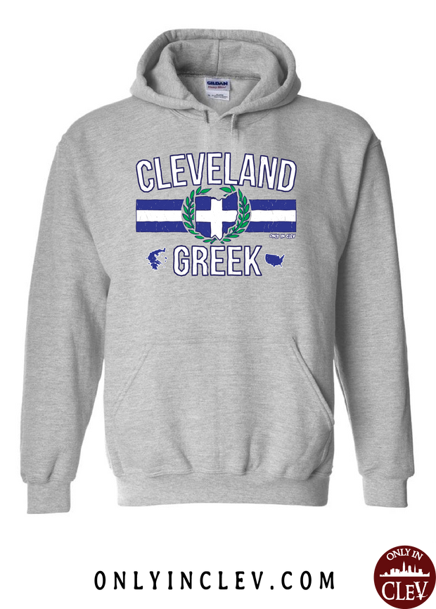 Cleveland-Greek Nationality Tee Hoodie - Only in Clev