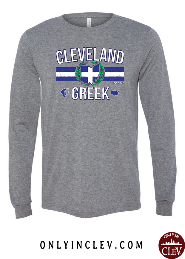Cleveland-Greek Nationality Tee Long Sleeve T-Shirt - Only in Clev
