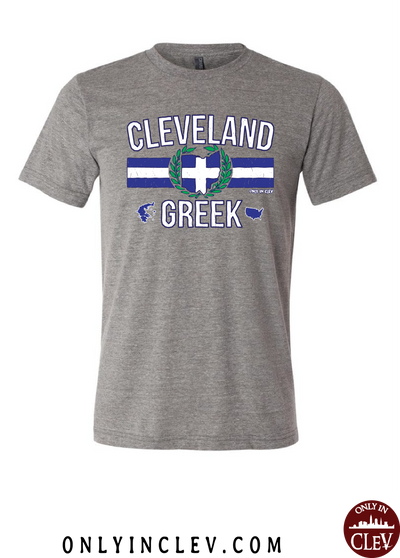 """Cleveland Greek"" Design on Gray"